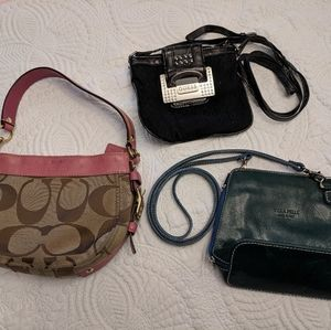 Small purse lot, Coach and Guess